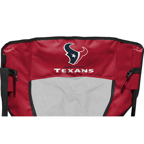 Back of Rawlings Red and Navy NFL Houston Texans High Back Chair With Team Name SKU #09211093518