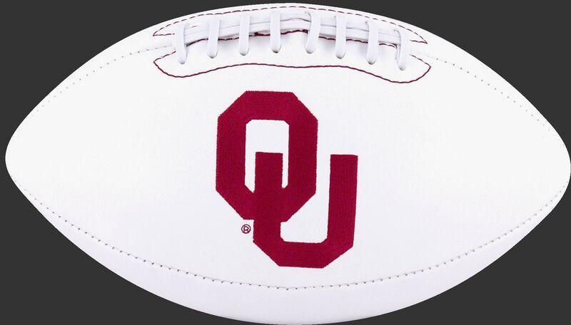 White NCAA Oklahoma Sooners Football With Team Logo SKU #05733045121