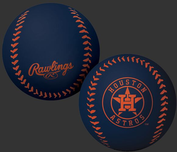 Rawlings Houston Astros Big Fly Rubber Bounce Ball With Team Logo on Front In Team Colors SKU #02870002112