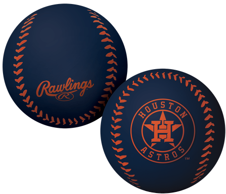 A navy Houston Astros Big Fly rubber bounce ball