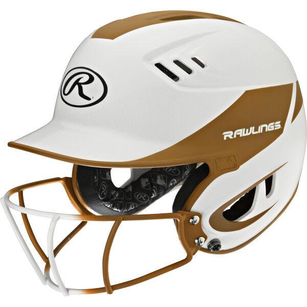 Velo Junior Batting Helmet White/Texas Orange