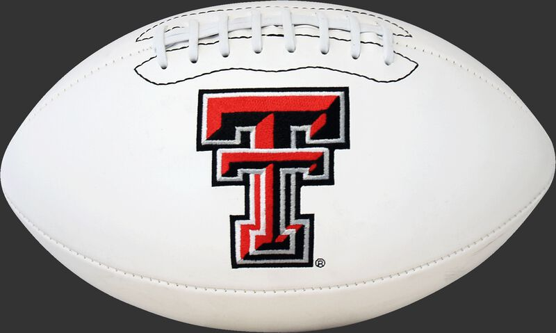 White NCAA Texas Tech Red Raiders Football With Team Logo SKU #05733063121