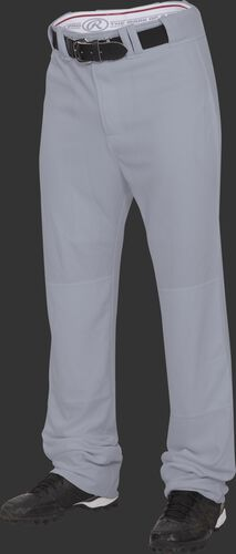 Front of Rawlings Blue Gray Adult Premium Straight Pant - SKU #BPU150-BG-88