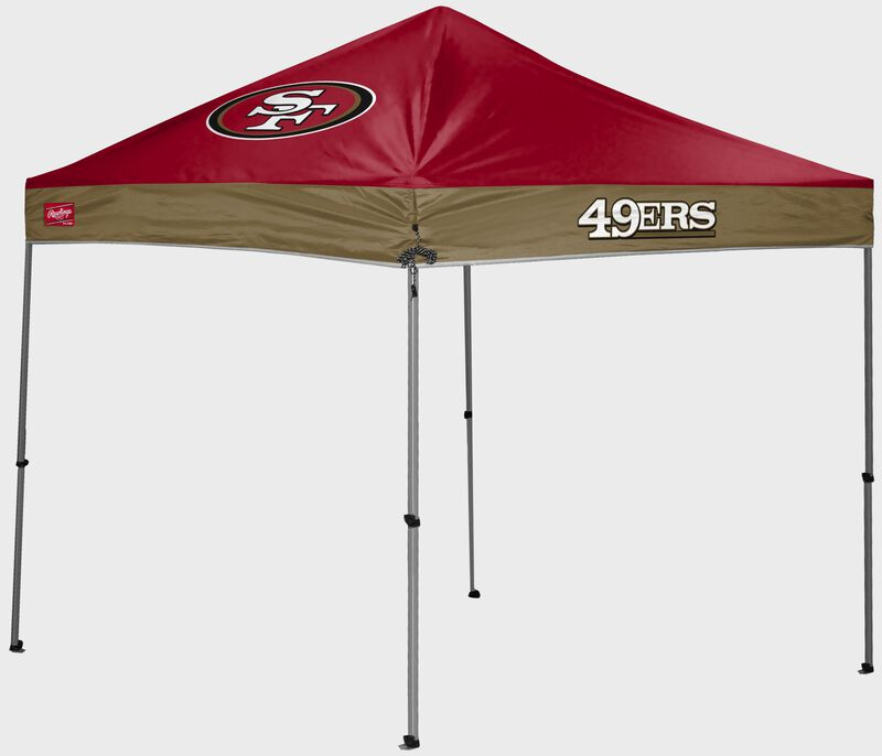 A San Francisco 49ers 9'x9' straight leg canopy