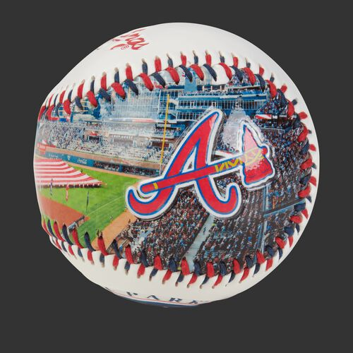 Stadium picture of an Atlanta Braves stadium baseball