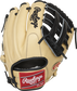 Camel back of a Brandon Crawford Pro Preferred glove with a red Rawlings patch - SKU: PROS204-BC35 image number null