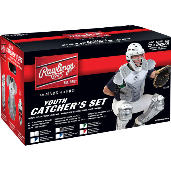Velo Youth Catchers Set White/Silver