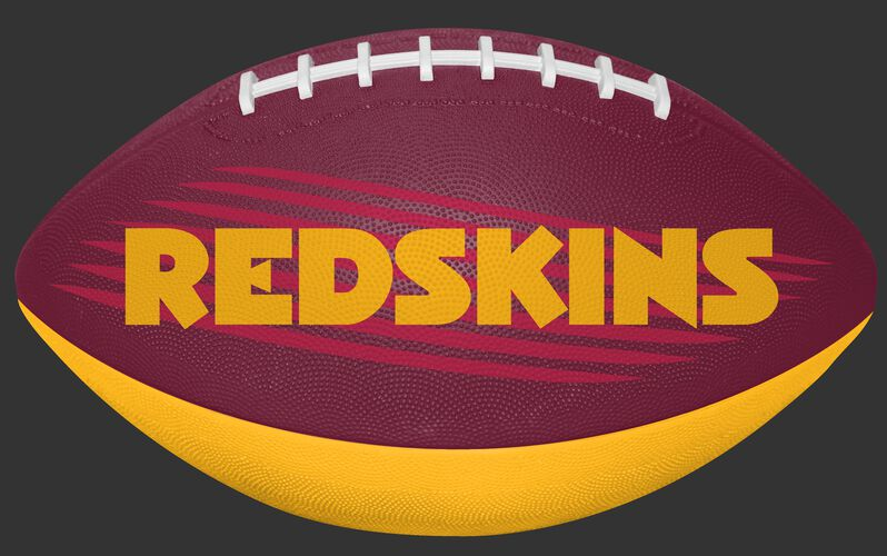 Burgundy and Gold NFL Washington Redskins Downfield Youth Football With Team Name SKU #07731087121