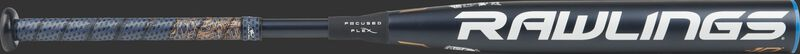 FPPE10 Quatro Pro end-load fastpitch bat with a black barrel and white Rawlings logo
