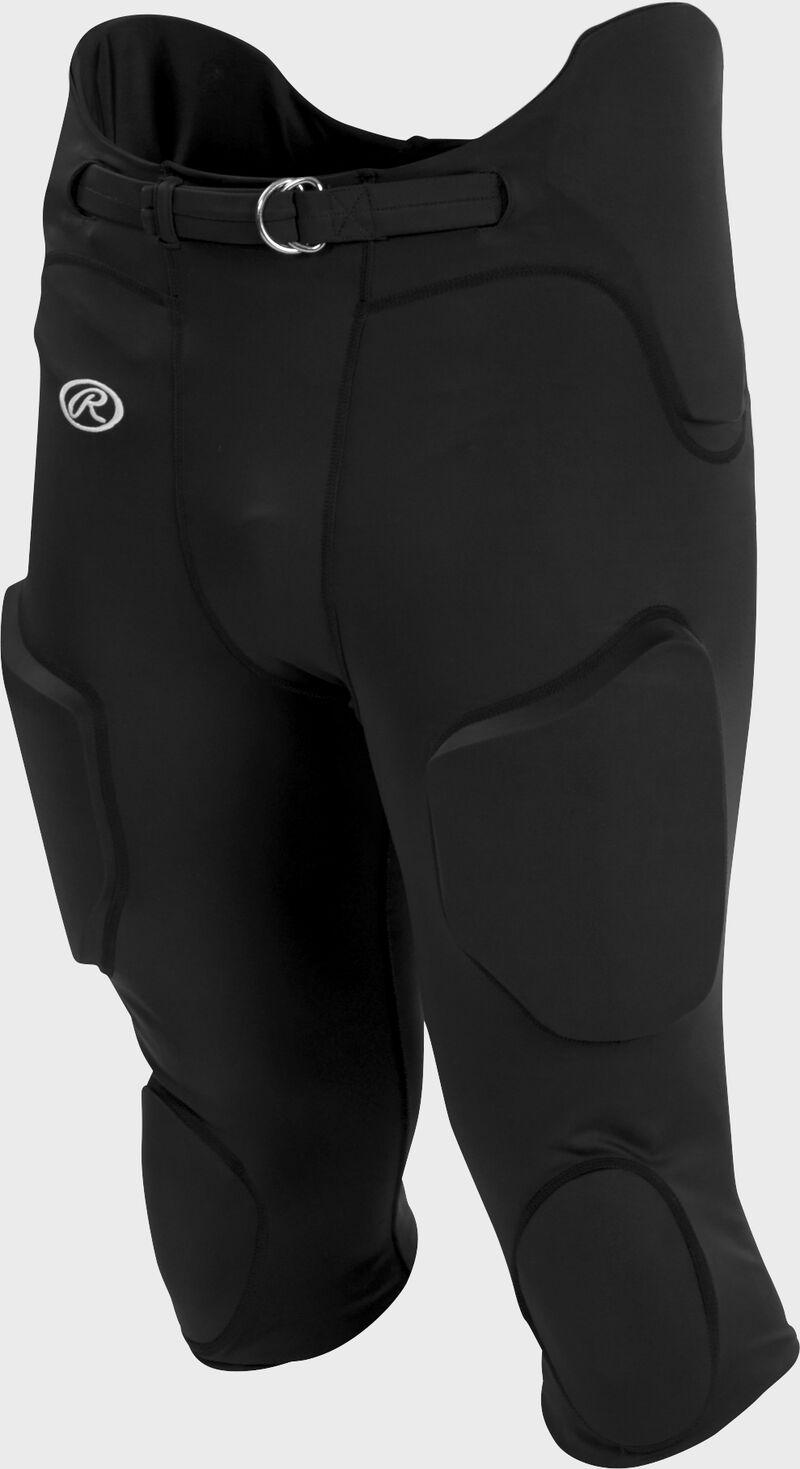 Front of Rawlings Black Adult Lightweight Football Pants - SKU #FPL