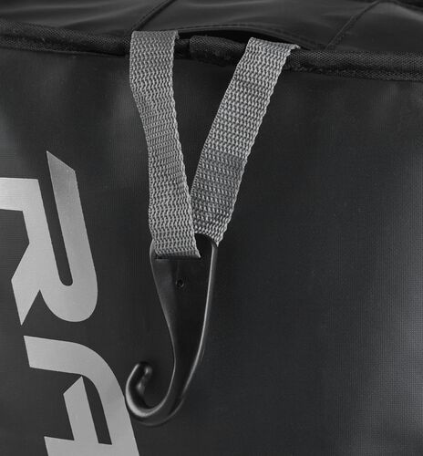 Exterior hanging hook on a black R601 Rawlings hybrid bag