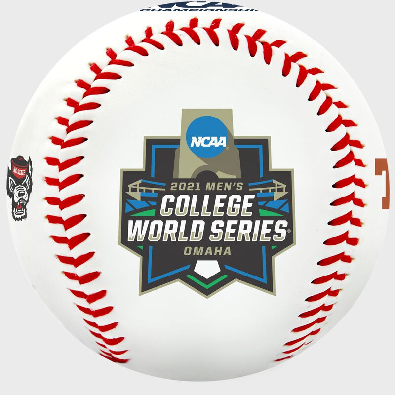 2021 College World Series logo on a CWS contenders replica baseball - SKU: 35393012531