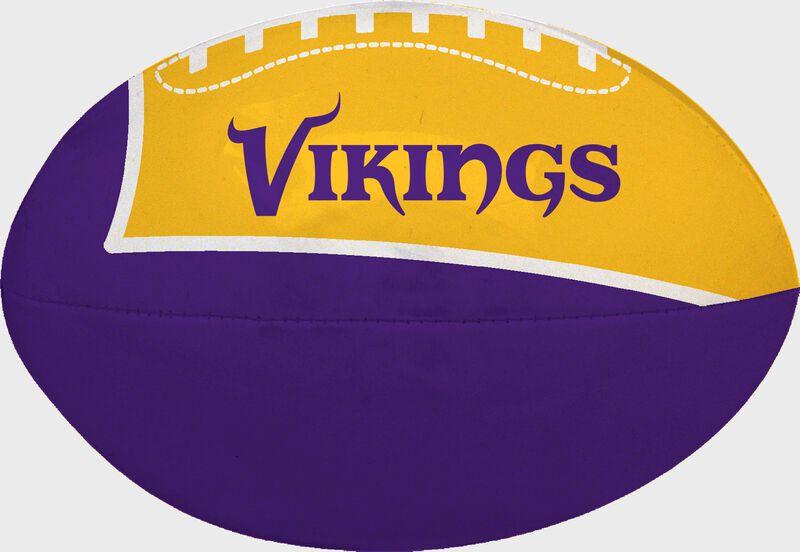 Purple and Gold NFL Minnesota Vikings Football With Team Name SKU #07831075114