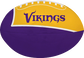 Purple and Gold NFL Minnesota Vikings Football With Team Name SKU #07831075114 image number null