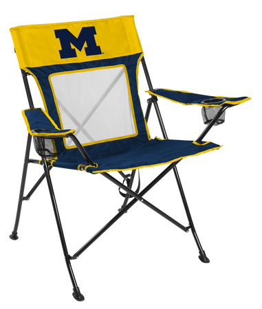 NCAA Michigan Wolverines Game Changer chair with the team logo