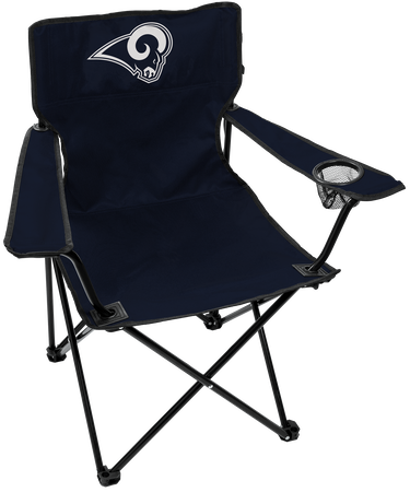 NFL Los Angeles Rams Gameday Elite Chair with team colors and logo on the back