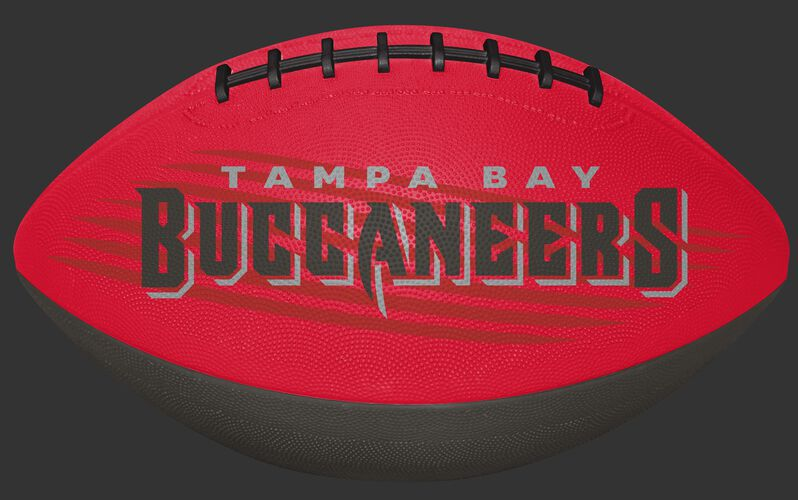 Red and Grey NFL Tampa Bay Buccaneers Downfield Youth Football With Team Name SKU #07731086121