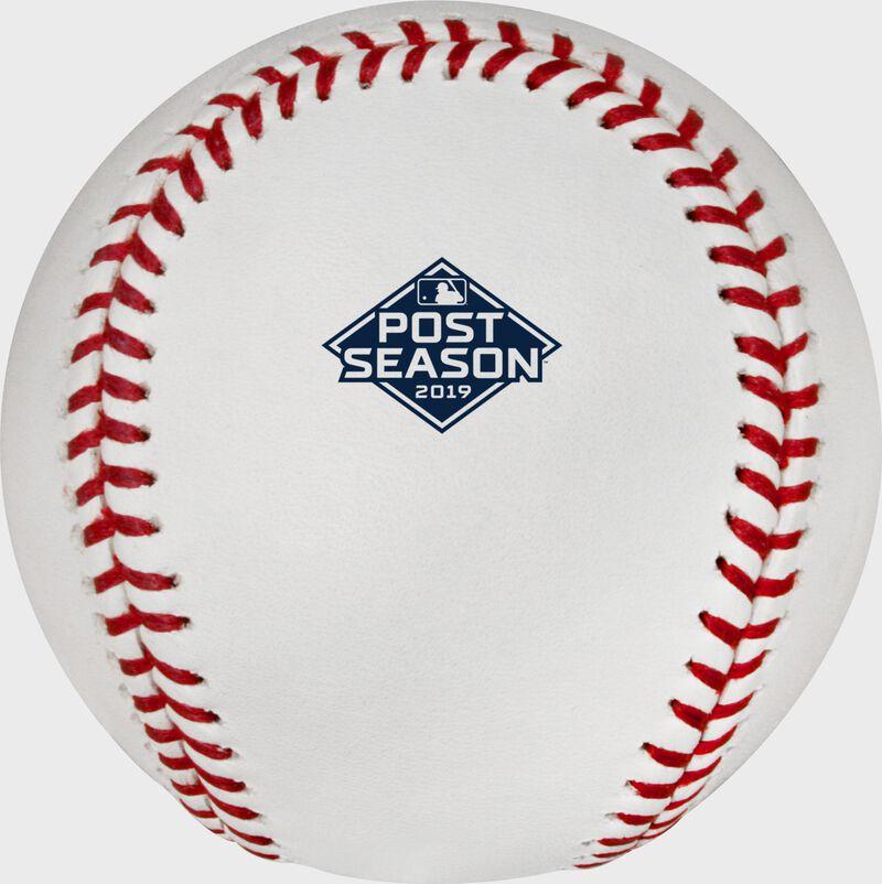2019 Post Season logo on the ROMLBPS19 MLB Post Season ball