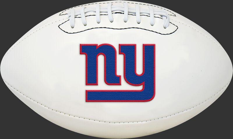 White NFL New York Giants Football With Team Logo SKU #06541078811