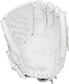 PRO125SB-3W Rawlings 12.5-inch softball glove with a white palm and white laces image number null