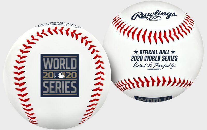 A 2020 World Series Replica baseball with the World Series logo stamp - SKU: 35010032276