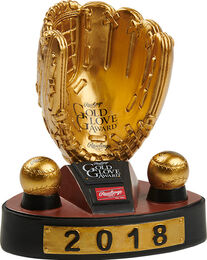 2018 Gold Glove Award Bobble Trophy