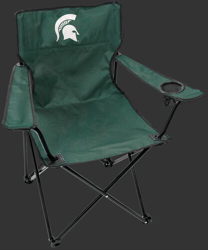 Front of Rawlings Green NCAA Michigan State Spartans Gameday Elite Chair With Team Logo SKU #00563038111