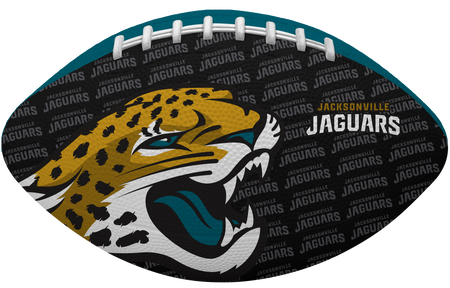 Black side of a NFL Jacksonville Jaguars Gridiron football with the team logo