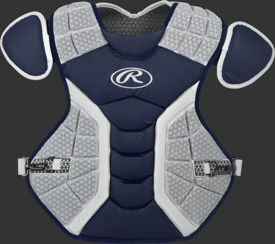 A navy/grey CPPRO Pro Preferred adult chest protector