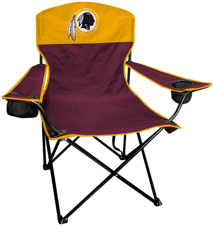 NFL Washington Redskins Lineman chair with team colors and logo on the back