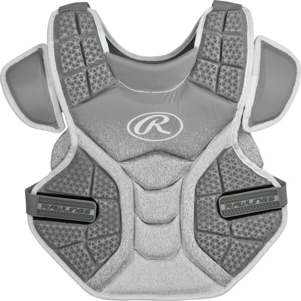 Velo Adult Softball Chest Protector Silver