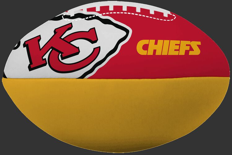 NFL Kansas City Chiefs Big Boy softee football in team colors with team logos SKU #03211071111