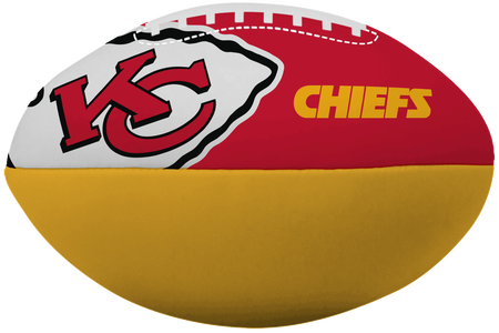 NFL Kansas City Chiefs Big Boy softee football in team colors with team logos