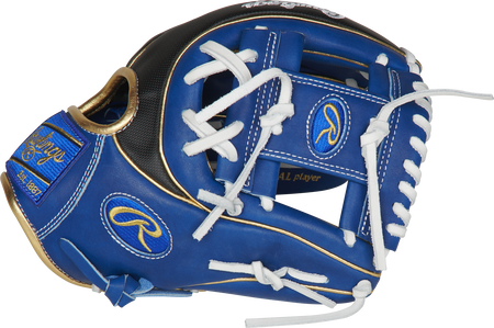 Thumb of a royal PRO234-2RSSG 11.5-Inch Heart of the Hide ColorSync infield glove with a royal I-web