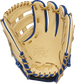 Camel palm of a Rawlings Heart of the Hide ColorSync 5.0 infield glove with gold stamping and gold laces - SKU: PRO205-6CRG image number null