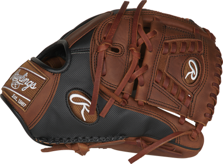 Thumb of a PRO205-30TISS Heart of the Hide ColorSync infield/pitcher's glove with a timberglaze Laced 2-piece solid web