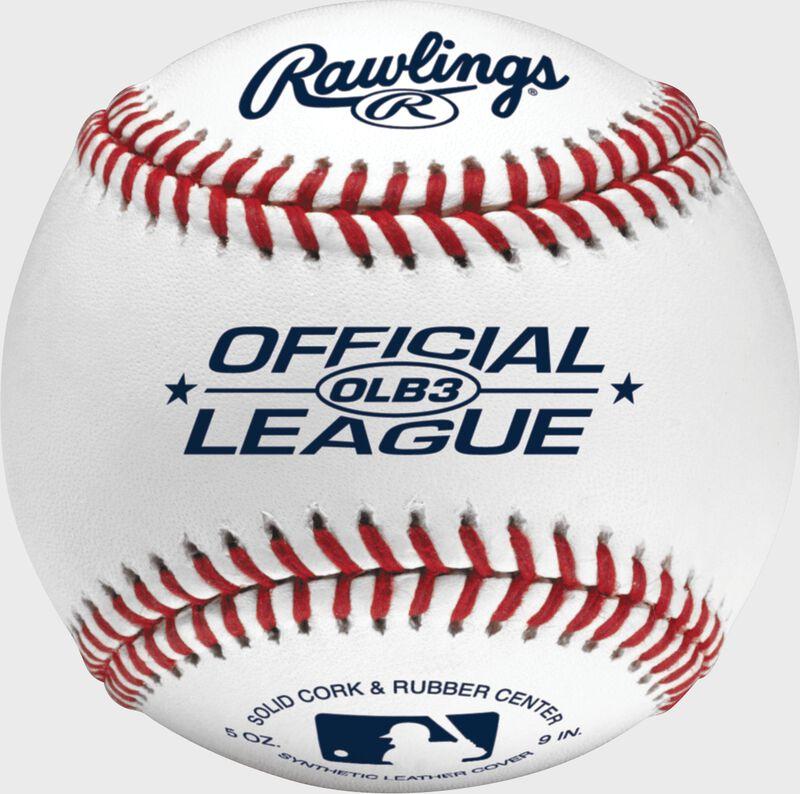 A Rawlings official league recreational baseball - SKU: AMAOLB3BOX3