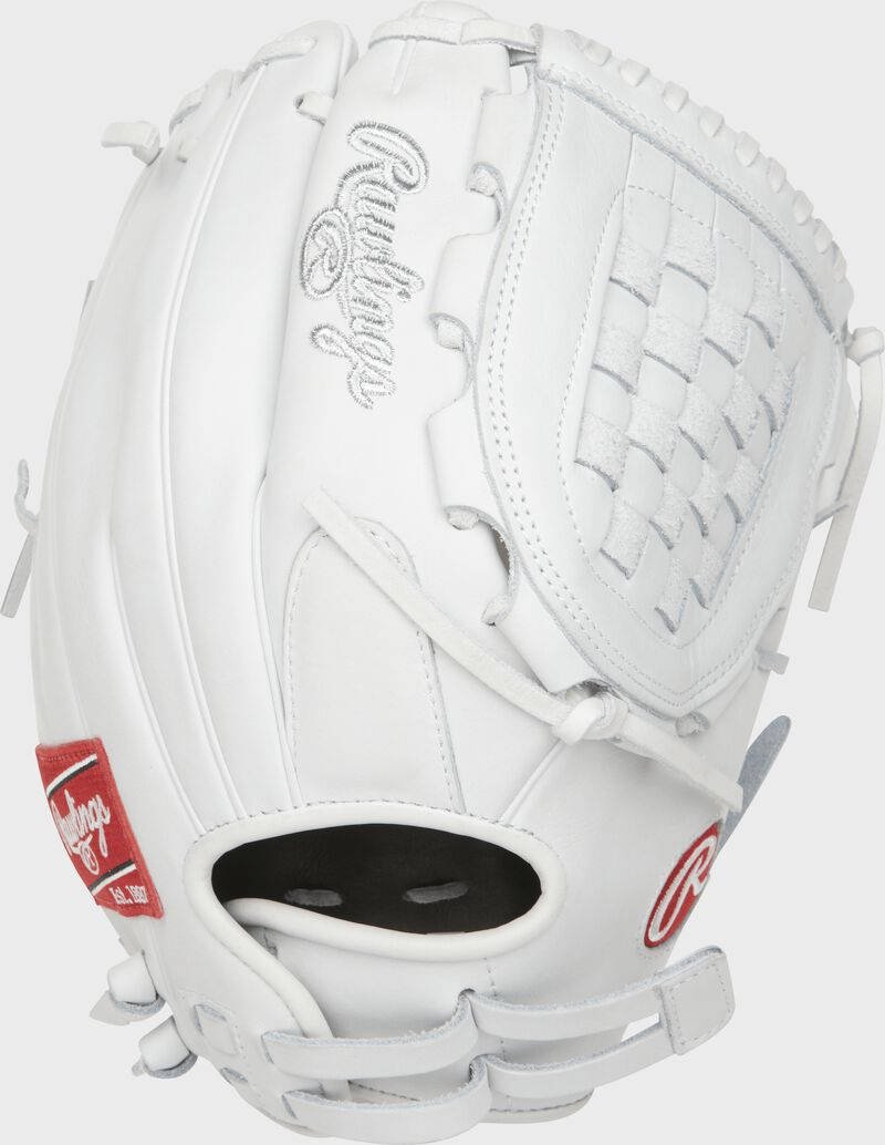 PRO125SB-3W 12.5-inch Heart of the Hide Softball infield/pitcher's glove with a white back and Pull-Strap back design