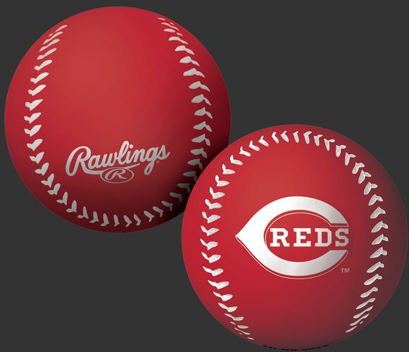 Rawlings Cincinnati Reds Big Fly Rubber Bounce Ball With Team Logo on Front In Team Colors SKU #02870023112