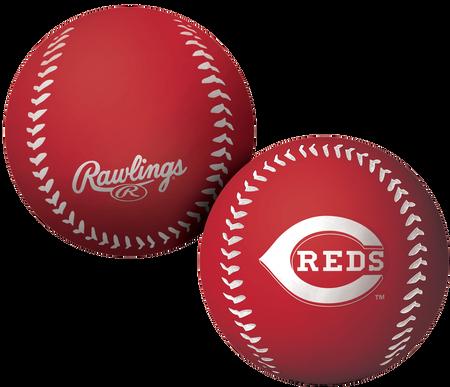 A red Cincinnati Reds Big Fly rubber bounce ball