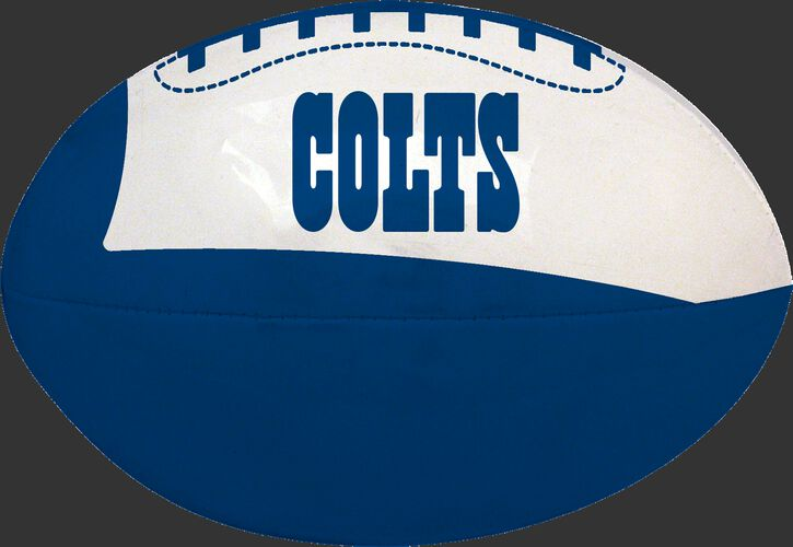 Blue and White NFL Indianapolis Colts Football With Team Name SKU #07831070114