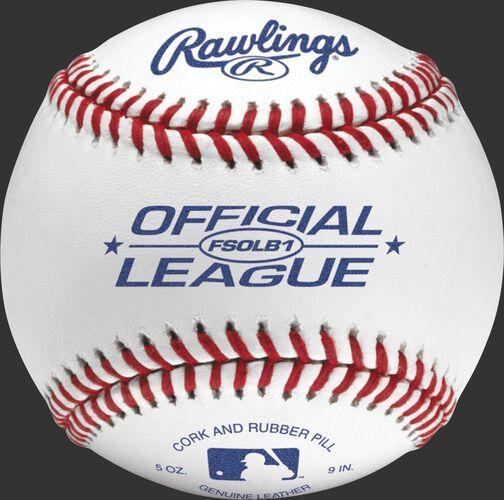 FSOLB1 Flat seam baseball with the Official League baseball