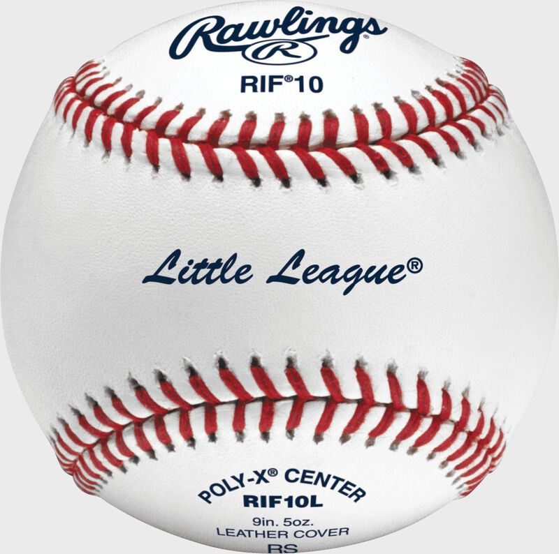 A Rawlings RIF10 Little League baseball - SKU: RIF10L