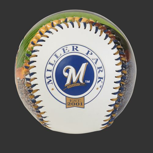 Milwaukee Brewers team logo on a MLB stadium baseball