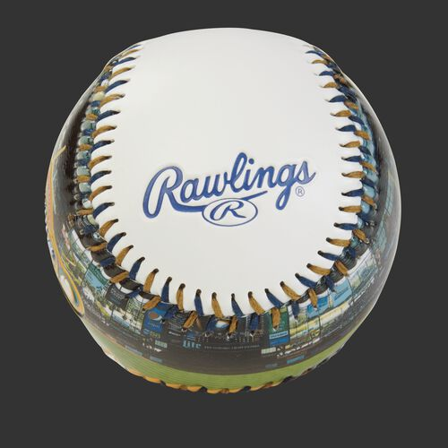 Rawlings logo on a Milwaukee Brewers team stadium ball