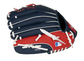 Back of a navy/red Boston Red Sox 10-inch youth glove with the MLB logo on the pinky - SKU: 22000024111 image number null