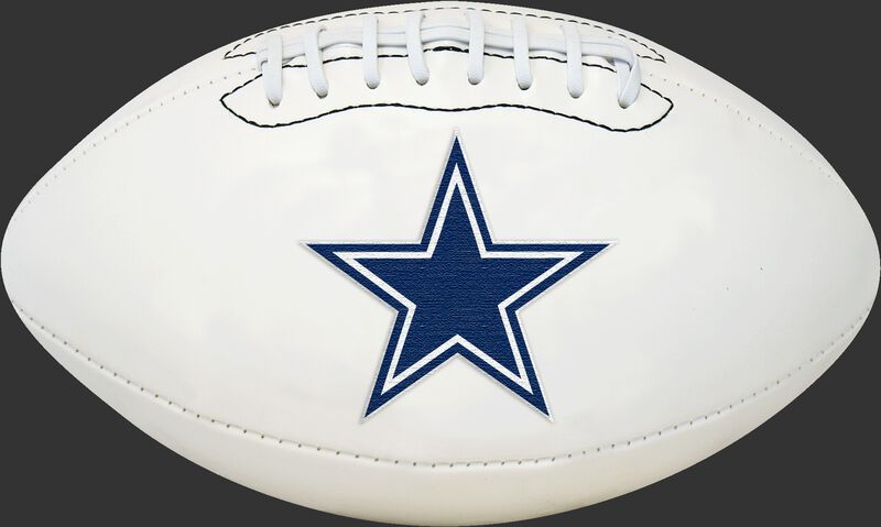 White NFL Dallas Cowboys Football With Team Logo SKU #06541065811
