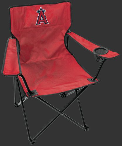 Front of Rawlings Red MLB Los Angeles Angels Gameday Elite Chair With Team Logo SKU #06110001111