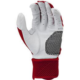 Adult Compression Strap Workhorse Batting Glove Scarlet