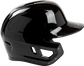 Right side of a black Mach single ear batting helmet with the ear protection for a lefty batter - SKU: MSE01A-LHB image number null